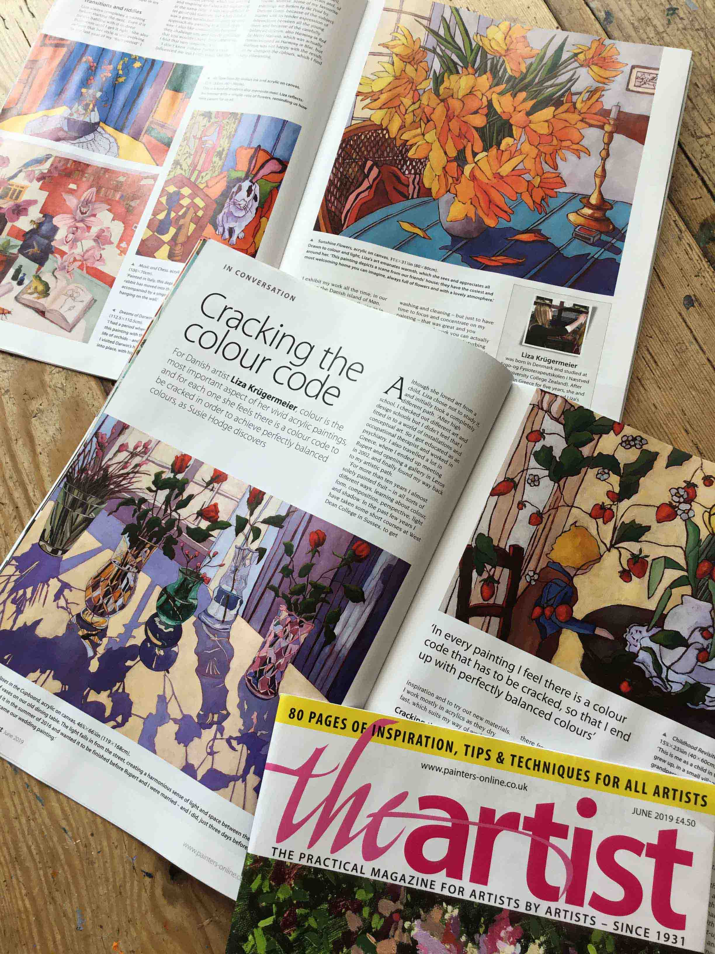 Article in The Artist Magazine